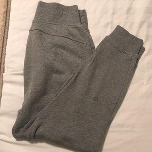 Lululemon gray joggers/sweat pants